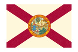 Florida State Flag Posters by  Lantern Press