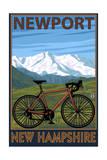 Newport, New Hampshire - Mountain Bike Posters van  Lantern Press