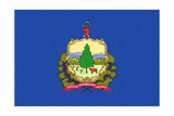 Vermont State Flag Posters by  Lantern Press