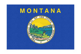Montana State Flag Prints by  Lantern Press