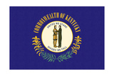 Kentucky State Flag Print by  Lantern Press
