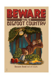 Bigfoot Country - Secure Food Out of Reach Posters by  Lantern Press