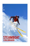 Steamboat, Colorado - Skier Poster by  Lantern Press