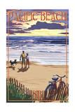 Pacific Beach, Washington - Beach and Sunset Prints by  Lantern Press