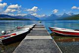 Glacier National Park, Montana - Lake McDonald Dock Print