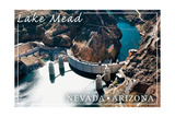 Lake Mead, Nevada - Arizona - Hoover Dam View Prints by  Lantern Press