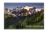 Rocky Mountain National Park - Mountains and Trees Poster by  Lantern Press