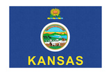 Kansas State Flag Prints by  Lantern Press