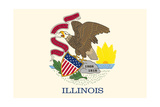 Illinois State Flag Poster by  Lantern Press