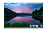 Trillium Lake, Oregon Sunset Posters by  Lantern Press