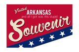 Visited Arkansas - Authentic Souvenir Posters by  Lantern Press
