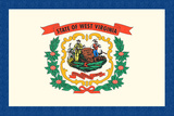 West Virginia State Flag Poster by  Lantern Press