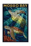Morro Bay, California - Sea Turtles - Mosaic Prints by  Lantern Press
