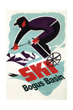Bogus Basin, Idaho - Retro Skier Prints by  Lantern Press