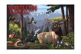 Whitefish, Montana - Wildlife Utopia Poster