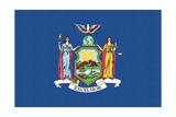New York State Flag Prints by  Lantern Press