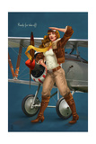 Pinup Girl Aviator - Ready for Take Off! Prints by  Lantern Press