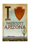 I heart Prescott Arizona Prints by  Lantern Press