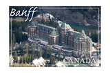 Banff, Canada - Banff Springs Hotel Prints by  Lantern Press