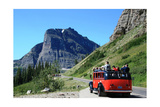 Glacier National Park, Montana - Going-to-the-Sun Road and Red Bus Prints by  Lantern Press