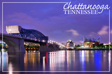 Chattanooga, Tennessee - Night Prints by  Lantern Press