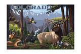 Colorado - Wildlife Utopia Prints by  Lantern Press