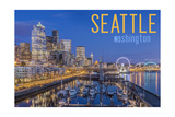 Seattle, Washington - Waterfront Scene Prints by  Lantern Press