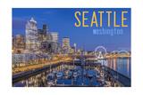 Seattle, Washington - Waterfront Scene Prints