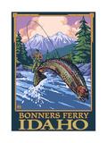 Bonners Ferry, Idaho - Fly Fishing Scene Poster