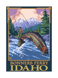 Bonners Ferry, Idaho - Fly Fishing Scene Poster by  Lantern Press