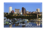 Memphis, Tennessee - Night Prints by  Lantern Press