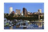 Memphis, Tennessee - Night Prints by  Lantern Press