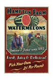 Watermelon Farm - Vintage Sign Posters by  Lantern Press