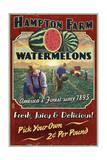 Watermelon Farm - Vintage Sign Posters