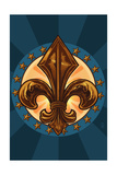 Fleur de Lis Print by  Lantern Press