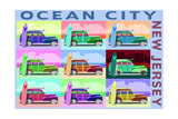 Ocean City, New Jersey - Woody Pop Art Prints by  Lantern Press