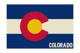 Colorado State Flag Print by  Lantern Press