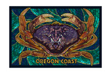 Oregon Coast - Dungeness Crab Mosaic Print by  Lantern Press