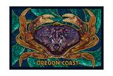 Oregon Coast - Dungeness Crab Mosaic Print