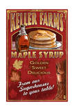 Maple Syrup Farm - Vintage Sign Poster