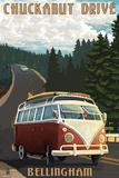 Chuckanut Drive - Bellingham, WA - VW Van Prints