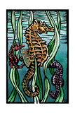 Seahorses - Scratchboard Prints by  Lantern Press