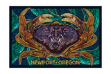 Newport, Oregon - Dungeness Crab Mosaic Posters by  Lantern Press