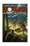 Washington, DC - Zombie Apocalypse Prints by  Lantern Press