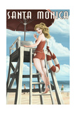 Santa Monica, California - Lifeguard Pinup Posters by  Lantern Press