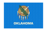 Oklahoma State Flag Prints by  Lantern Press