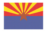 Arizona State Flag Prints by  Lantern Press