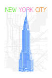 New York City, NY - Neon Chrysler Building Poster by  Lantern Press