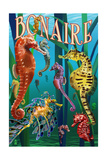 Bonaire, Dutch Caribbean - Seahorses Prints by  Lantern Press