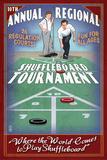 Shuffleboard - Vintage Sign Prints by  Lantern Press
